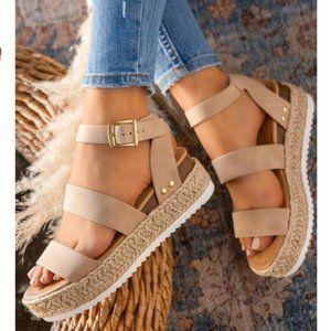 Shoes - !! RESTOCKED !! Espadrille Sandals in Beige